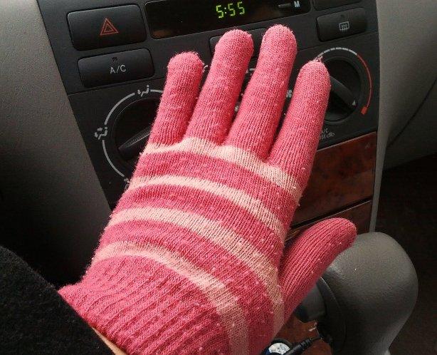 pink glve